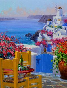 SI4315 Santorini Overlook 30x24
