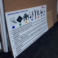 PVC sign made by Signarama Dixie Wayfinding Signs, Signage, Coroplast Signs, Sign Maker, Directional Signs, Office Signs, Sign Company, Business Signs, Indoor