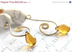 Valentines Day SALE Delicious Wire Wrapped Earrings by KapKaDesign, $31.45