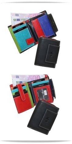 d932c2e7408188 Jennifer Jones Leder Geldbörse für Damen aus der Serie *multicolor* -  dieses Portemonnaie macht