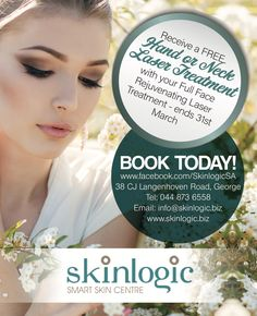 Receive a free hand or neck laser treatment. For more information or booking please contact us on info@skinlogic.biz.