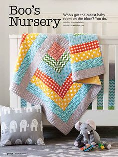 Cute baby quilt she likes colors and pattern