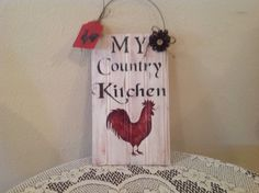 Rooster Kitchen Sign Farm Kitchen..Country by CraftsByJoyice