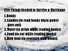 5 things needed to survive a hurricane