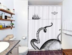 the kraken octopus shower curtain - myshowercurtains