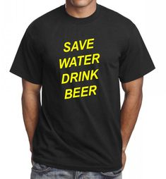 Save water drink beer Funny novelty funny t shirt gift ideas for men party wear #Gildan #BasicTee