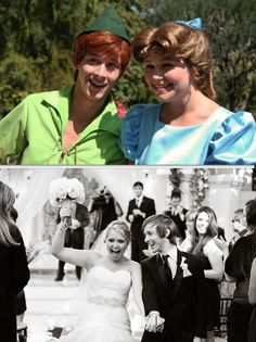 I will never get over the fact that disney worlds Peter Pan and Wendy are married in real life; OMG! :,)