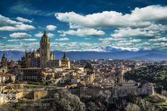 Cityscape of Segovia Spain by danigmcorreas  Alcazar Architectural Arquitecture Castle City Cityscape España Landscape Nature Nature photograph N