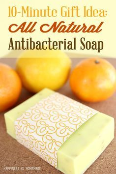 This natural citrus antibacterial soap uses essential oils that are naturally immune boosting and disinfectant. You can make a whole batch in just 10 minutes, and it smells amazing too! Using melt and pour soap Bath Recipes, Homemade Soap Recipes, Homemade Biscuits, Diy Savon, Antibacterial Soap, Homemade Beauty Products, Beauty Recipe, Handmade Soaps, Diy Soaps