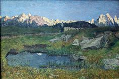 Giovanni Segantini - Alpine Landscape; JPG (4752×3168)
