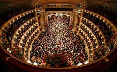 A general view of the state opera during the traditional Opera Ball (Opernball) in Vienna
