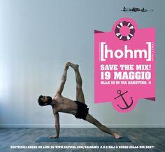 Marco Migliavacca e [hohm] street yoga hanno donato al MIX l'intero ricavato di una lezione di YOGA.