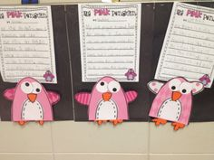First Grader...at Last!: Pink Penguin  Based on the book.  Pink