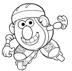 Mr Potatohead Coloring Page Print Mr Potatohead pictures to