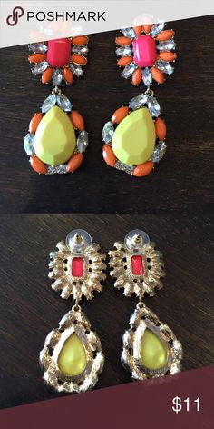 Statement earrings Need to brighten up your date nite outfit?  Or need a pop of color for your little black dress?  These are for you Jewelry Earrings