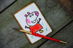 Paint your own gingerbread cookie Peppa