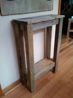 Barn Wood Console Table