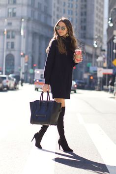 A lot of you ask me what is my MUST-HAVE in my wardrobe for the Fall/Winter. Well, here you have it. A classic sweater dress. I found the perfect one recently too, it's by RAILS, the perfect length, the perfect fabric, the perfect thickness, and just all in all the perfect fit. It goes perfectly … Continued