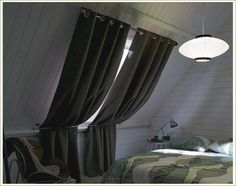 Thick fabric skylight shades and covers for roof windows attic bedroom Ikea Curtains, Cool Curtains, Curtains With Blinds, Blackout Curtains, Window Curtains, Skylight Covering, Skylight Shade, Store Velux, Curtains Childrens Room