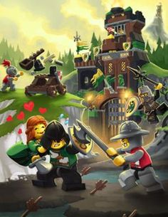 Another cool piece of concept art from LEGO Universe, the little game that should Lego Universe, Dragon Knight, Little Games, Game Concept Art, Pvp, Cool Lego, Legos, Medieval, Princess