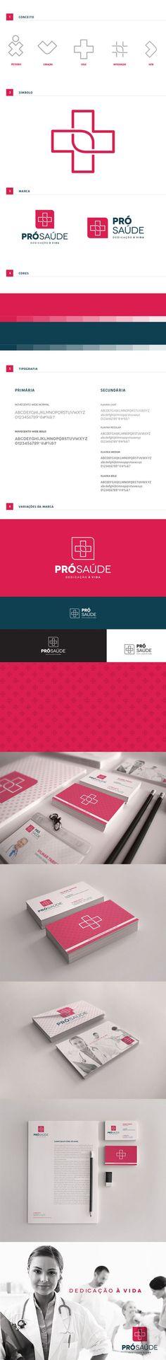 Branding Pró-Saúde by Diogo Torres Tesch , via Behance: