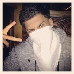 Jesse is #Mean Mugging #Ninjaing