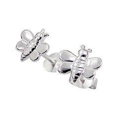 Baby and Children's Earrings:  Sterling Silver Bee Earrings $19.86
