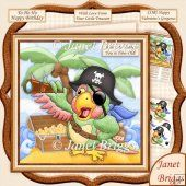 Shiver Me Timbers You're How Old 8x8 Decoupage Kit