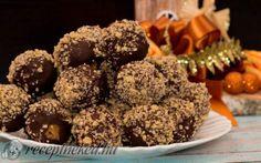 Zserbógolyó recept fotóval Muffin, Goodies, Chocolate, Breakfast, Sweet, Food, Sweet Like Candy, Morning Coffee, Candy