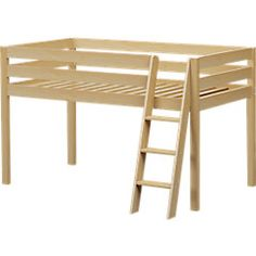 picture of Castello Birch Twin Jr. Loft Bed  from Beds Furniture