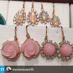 """""""A lovely passel of @ireneneuwirth pretties. #jewelry #opals"""""""