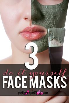 Three DIY Face Masks that you can use for a relaxing at home spa night. All items used are probably already in your kitchen! #BeautyForLess