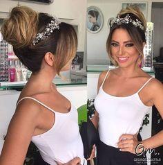 Wedding+Bun+With+Jeweled+Crown