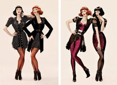phi fall 2008 campaign1 TBT   Coco Rocha & Karen Elson Get Retro in Phis Fall 2008 Ads