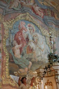 Inside Kunin Castle chapel, Harrach family estate, Czech Republic