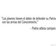 Pedro Albizu Campos  educacion
