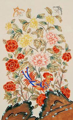 봉황~~~ 지난 현백전에 전시 했던 현대 백화점 민화반의 이**회원 작품이예요~~^^ 문득 사진 정리를 하다가 혼자있... Korean Image, Korean Art, Asian Art, Korean Traditional, Traditional Art, Traditional Clothes, Material Research, Art History, Oriental