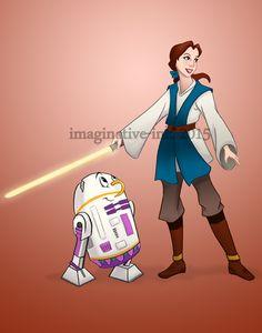 Jedi Belle! Chip is killin me! I love this!