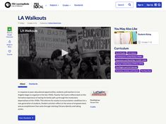 This LA Walkouts Video is suitable for - Grade. An informative video takes you to East Los Angeles In the Educator, Sal Castro identified a common problem among the Latino population and as a native Angelino, he decided to do something about it. Lesson Planet, East Los Angeles, Direct Instruction, Hispanic Heritage Month, Study History, Instructional Strategies, Try It Free, Chicano, Social Studies
