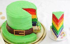 St. Patrick's Day Leprechaun Hat Rainbow Cake