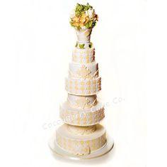 Ivory Diamonds Cake
