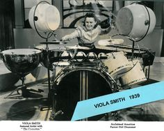 By the time she was 12, her dad had gotten permission from the local union for the underage girls to travel the circuit. The Schmitz Sisters (later becoming the Smith Sisters) fast became a favorite on the RKO circuit, even sharing the bill with The Andrews Sisters. From 1938 to 1941 Viola flourished in a all female band that she and her sister organized,The Coquettes.
