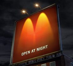 Brilliant Use of Billboard lighting at a McDonald's ad