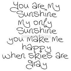 You Are My Sunshine sticker
