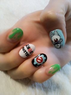 ghost buster nails, love that idea