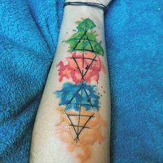 mi tercer tatuaje, 4 elementos :) Tattoo, elements