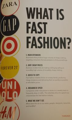 How to define & recognize Fast vs Slow Fashion. Make the choice - it affects us all!