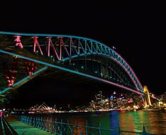 100,800 Colorful #LED Lights on Sydney's Harbour Bridge http://www.mymodernmet.com/profiles/blogs/vivid-sydney-harbour-bridge-interactive-art