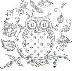 Owl template...saving for a mural for the girls' room maybe?!