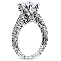The Winners of the 2014 Jewelers' Choice Awards: Best Bridal Design Under $2,500 - Stella Collection hand-engraved engagement ring with 0.21 ct. t.w. round diamonds; $2,475 (center stone not included); Kirk Kara, Northridge, Calif.; 818-882-5272; kirkkara.com